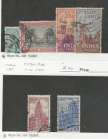 India, Postage Stamp, #231-234, 235-236 Used, 1950-51