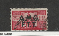 Italy - AMG Trieste, Postage Stamp, #14 Used, 1947