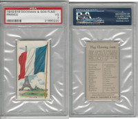 E16 Dockman & Son, Flag Chewing Gum, 1920's, France, PSA 3 VG