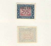 Italy - AMG Trieste, Postage Stamp, #J29 VF Mint LH, 1952