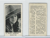 T85-3 Tobacco Products, Strollers, Movie Stars, 1922, #119 Mabel Normad