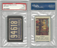1950 Topps, License Plates Cards, #22 Nevada, PSA 5 MC EX