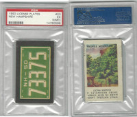 1950 Topps, License Plates Cards, #23 New Hampshire, PSA 5 MC EX