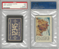 1950 Topps, License Plates Cards, #25 New Mexico, PSA 5 MC EX