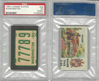 1950 Topps, License Plates Cards, #26 Washington, PSA 5 MC EX