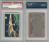 1951 Bowman, Jets, Rockets, Spacemen, #10 Space Station, PSA 6 EXMT