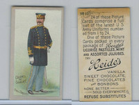 E170 Heides Candies, U.S. Army Uniforms, 1920's, #10 Colonel of Cavalry