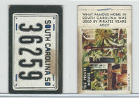 1950 Topps, License Plates Cards, #14 South Carolina, The Pirate House