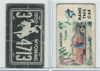 1950 Topps, License Plates Cards, #29 Wyoming, Mercury