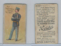 E170 Heides Candies, U.S. Army Uniforms, 1920's, #20 Post Quartermaster