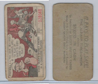 M18 Lucky Safety Cards, 1953, Football Team Game, Popeye, Albany Times