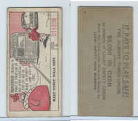 M18 Lucky Safety Cards, 1953, Dangerous Crossing, Albany Times