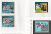 Ajman Collection of 3 Unlisted Space Topical Sheets, Mint NH, Apollo, Flag