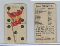 E19 American Caramel, Flag Carmels Dominos, 1910, Spain