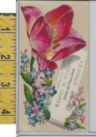 Victorian Card, 1890's, Kessel & Richert Goods, Buffalo NY, Flowers