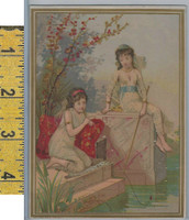 Victorian Card, 1890's, Ketterlands, Philadelphia, Girls Fishing