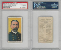 E2 Lauer & Suter, Navy Candy, 1920's, Capps, Rear Adm R. Lee, PSA 2 Good