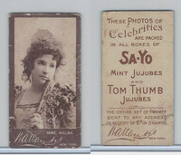 E202 Wallce & Company, Celebrities - Brown, 1920's, Mme. Melba