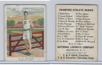 E229 National Licorice, Champion Athletes, 1920's, AB Shaw, Hurdler