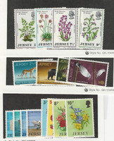 Jersey, Postage Stamp, #61-68, 81-84, 98-98 Mint NH, 1972-74 Flowers, Airplane