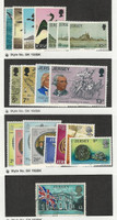 Jersey, Postage Stamp, #129-32, 187-9, 160-3, 173-80, 154 Mint NH, 1972-76