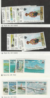 Kiribati, Postage Stamp, #345-8 (2), 380-3, 400-3 Mint NH, 1979-82 Ship, Plane