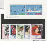 Kiribati, Postage Stamp, #468-474 Mint NH, 1985-86 Ship, Queen Elizabeth