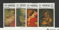 Kiribati, Postage Stamp, #530-533 Mint NH, 1989 Christmas