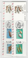 Korea, Postage Stamp, #1559a-1562a Booklet Mint NH + Used, 1990 Fish