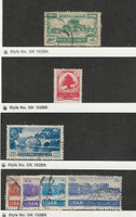 Lebanon, Postage Stamp, #233, 241, 260-263 Used, 234 Mint LH, 1949-52