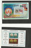 Liberia, Postage Stamp, #1155, 1147 Mint NH Sheets, 1989-92 Olympic Sports