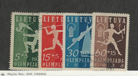 Lithuania, Postage Stamp, #B43-B46 Used, 1938 Olympic Sports