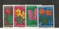 Luxembourg, Postage Stamp, #300-303 Mint NH, 1955 Flowers