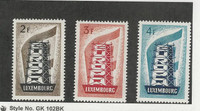 Luxembourg, Postage Stamp, #318-320 Mint Hinged, 1956 Europa