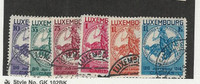 Luxembourg, Postage Stamp, #B60-B65 Used, 1934