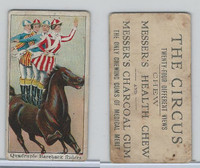 E44 Messer's Charcoal Gum, The Circus, 1910, Quadruple Bareback Riders