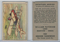 V88 Paterson, Aviation Series, 1930, #1 De Haviland Moth Airplane