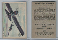 V88 Paterson, Aviation Series, 1930, #20 Barling NB3 Airplane