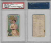 N188 Kimball, Goddesses of the Greeks & Romans, 1889, Mnemosyne, PSA 3 VG