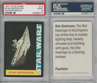 1977 Wonder Bread, Star Wars, #14 Star Destroyer, PSA 9 Mint
