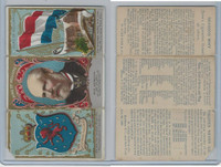 N126 Duke, Rulers, Flags, Coats of Arms Tri-Fold, 1889, Holland
