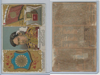 N126 Duke, Rulers, Flags, Coats of Arms Tri-Fold, 1889, Japan, Mikado