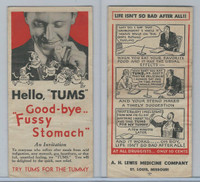 F Card, Tums Medicine, AH Lewis, St. Louis, Fussy Stomach, Foldout