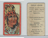 T74 Booker Tobacco, Indian Series, 1906, Nantaques (B)