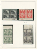 United States Collection #740-749 Mint Plate Blocks, Parks 1934