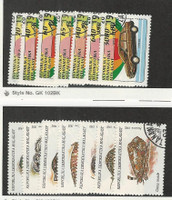 Malagasy, Postage Stamp, #1106-12, 1122-8 Used, 1993 Shell, Automobile