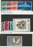 Malawi, Postage Stamp, #1-4, 94, 63-66 Mint NH, 51 LH, 1964-72 Butterfly