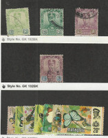 Malaya - Johore, Postage Stamp, #103, 15, 111 Used, 176-82 Mint LH Butterfly