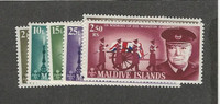 Maldive Islands, Postage Stamp, #201-206 Mint NH, 1967 Churchill
