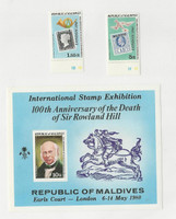 Maldive Islands, Postage Stamp, #853-5 Mint NH Sheet, 1980 Rowland Hill